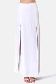 BB Dakota McKinley Ivory Maxi Skirt at Lulus.com!