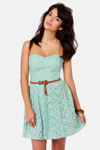 BB Dakota by Jack Patton Pale Blue Eyelet Lace Dress at Lulus.com!