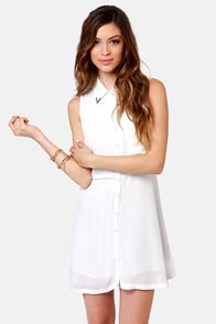 Lucca Couture Tip of the Iceberg White Dress at Lulus.com!