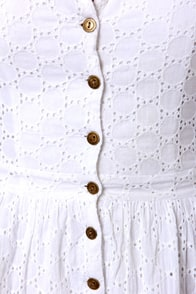 Lucca Couture Vineyard Tour White Eyelet Lace Dress at Lulus.com!