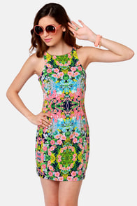 The Floral the Merrier Floral Print Dress at Lulus.com!
