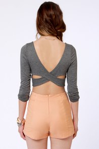 Lost Pinky Peach High-Waisted Shorts at Lulus.com!