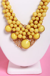 Bubble Vision Yellow Statement Necklace at Lulus.com!