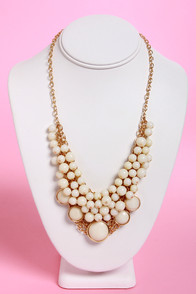 Bubble Vision Ivory Statement Necklace