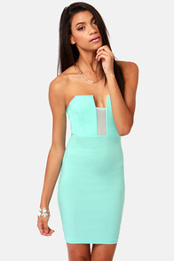 LULUS Exclusive Art of Dip-Low-macy Mint Blue Strapless Dress at Lulus.com!
