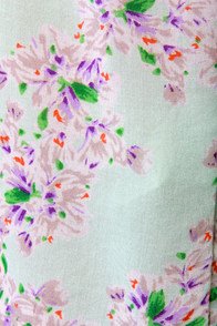 O'Neill Creek Mint Floral Print Dress at Lulus.com!