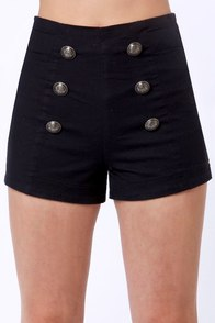 Lost Pinky Navy Blue High-Waisted Shorts at Lulus.com!