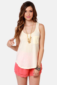 Element Eden Jet Lagged Cream Backless Tank Top at Lulus.com!