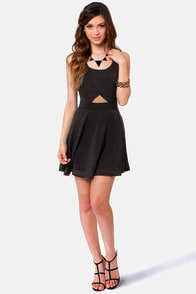 Chic-a-Boo Black Cutout Dress at Lulus.com!