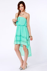 High-Low, How Are You? Strapless Mint Dress at Lulus.com!