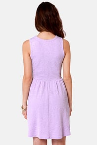Jacquard-ed at the Door Lavender Dress at Lulus.com!