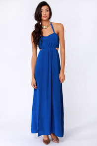 Aryn K Hail A Maxi Blue Maxi Dress at Lulus.com!