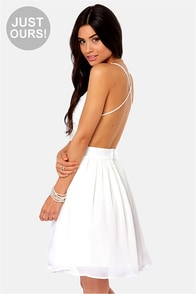 LULUS Exclusive Seeing Starlets Backless Ivory Dress at Lulus.com!