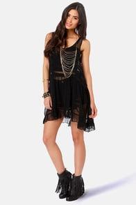 Gypsy Junkies Seville Sheer Black Silk Tunic at Lulus.com!