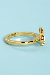 Like It Or Knot Gold Bow Ring at Lulus.com!