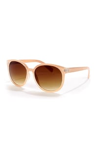 Money Lens-ers Cream Sunglasses at Lulus.com!