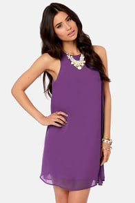 Chiff-On the Run Purple Dress