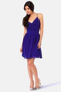 Seeing Starlets Backless Royal Blue Dress at Lulus.com!