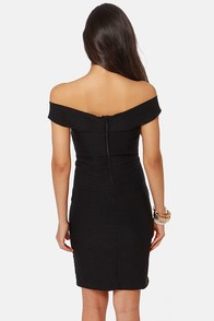 She's a Knockout Off-the-Shoulder Black Dress at Lulus.com!