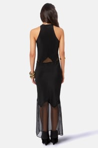 Gypsy Junkies Alexandria Black Silk Maxi Dress at Lulus.com!
