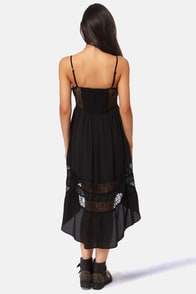 Lira Racey Lacey Black Lace Dress at Lulus.com!