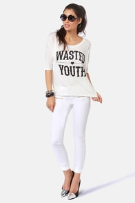 Lira Wasted Youth Print Tee at Lulus.com!