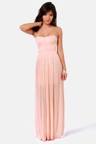 Blaque Label Aurora Peach Maxi Dress