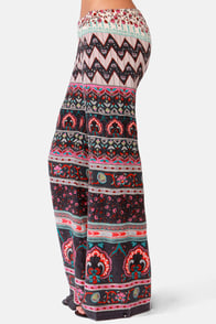 Billabong Beauty Bells Print Wide-Leg Pants at Lulus.com!