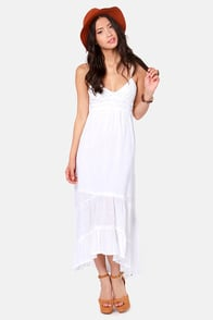 Billabong Railroad Run White Maxi Dress