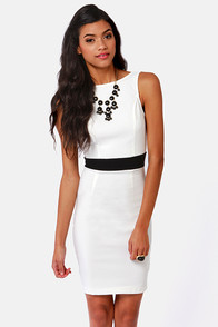 Enjoy the View Backless Ivory Midi Dress