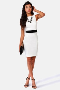 Enjoy the View Backless Ivory Midi Dress at Lulus.com!