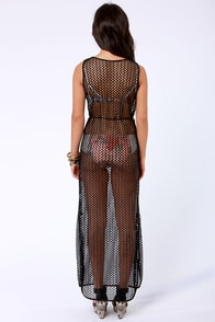 Lucy Love Cape Cod Sheer Black Maxi Dress at Lulus.com!