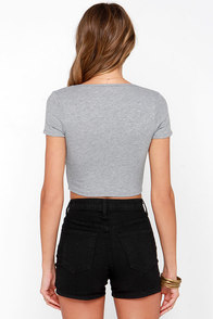 Jersey Devil Grey Crop Tee at Lulus.com!