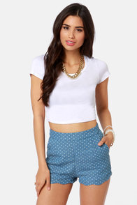 Jersey Devil White Crop Tee at Lulus.com!