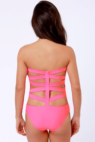 Beach Riot The Electra Neon Pink One Piece Swimsuit at Lulus.com!