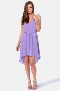 Couldn't Be Strappier Lavender High-Low Dress at Lulus.com!