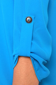 V-sionary Cornflower Blue Top at Lulus.com!