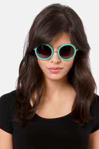 Final Re-Vision Aqua Sunglasses at Lulus.com!