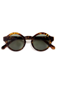 Through the Looking Glass Yellow Tortoise Sunglasses at Lulus.com!