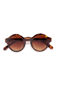 Through the Looking Glass Brown Tortoise Sunglasses at Lulus.com!