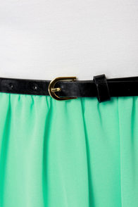 Belt of the Ball Mint Green and Ivory Belted Dress at Lulus.com!