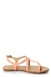 City Classified Kimie Peach Toe Loop Thong Sandals at Lulus.com!