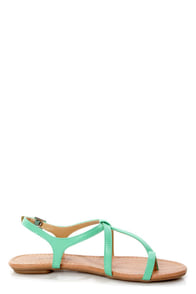 City Classified Kimie Aqua Toe Loop Thong Sandals at Lulus.com!