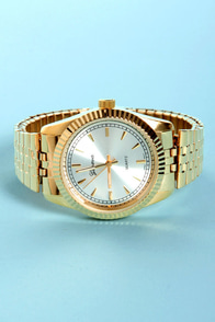 Look at the Time Gold Watch at Lulus.com!