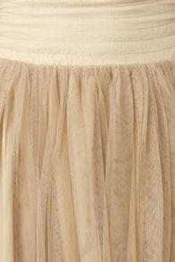 Lavand Twirl Next Door Beige Tulle Skirt at Lulus.com!