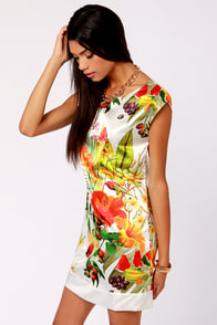 Lavand Tropical Illusion Floral Print Dress at Lulus.com!