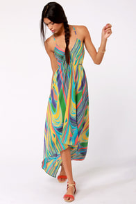 Lavand Miss Marble-ous Multi Print Dress at Lulus.com!