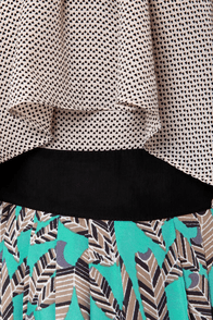 Feather Figure Print Halter Dress at Lulus.com!