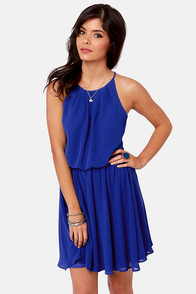 True Colors Royal Blue Dress at Lulus.com!