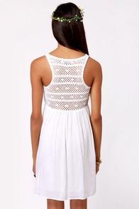 Crochet There! White Crochet Dress at Lulus.com!